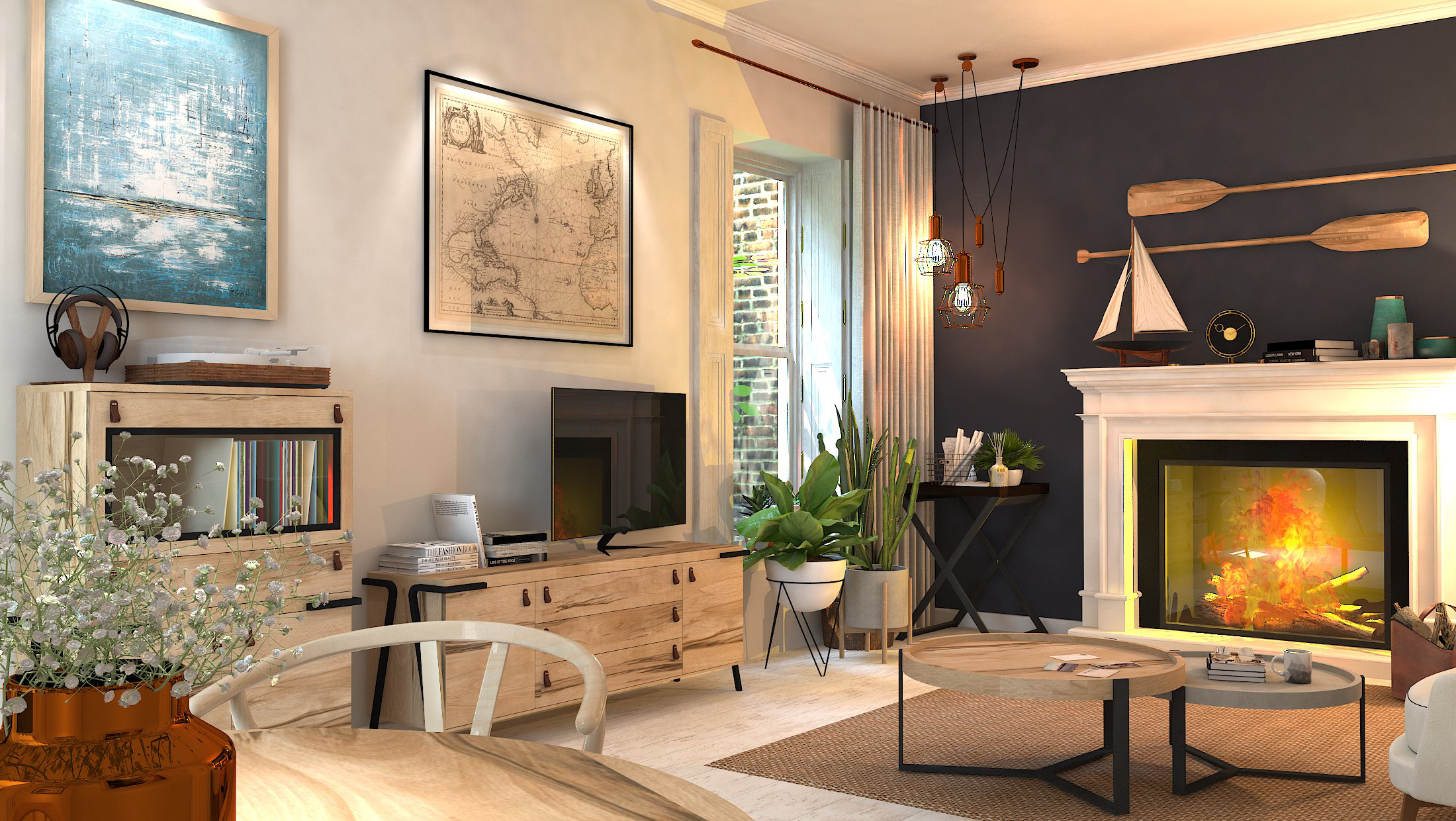 diseño sala de estar barcelona