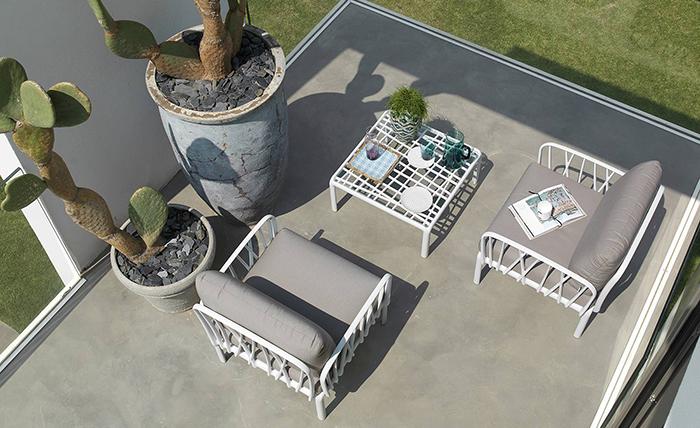 Conjunt de mobiliari d'exterior.